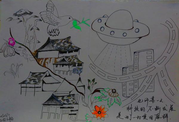 学生校园简笔画